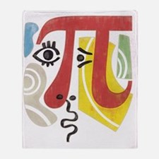 Pi-Casso Pi Symbol Throw Blanket