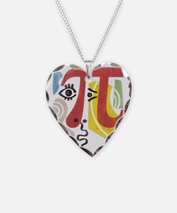 Pi-Casso Pi Symbol Necklace Heart Charm