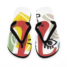 Pi-Casso Pi Symbol Flip Flops