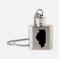 Black IL Flask Necklace