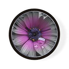 Wonderful Flower with Waterdrops Wall Clock