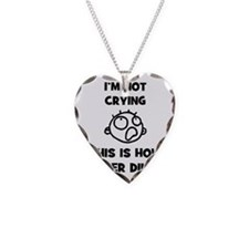 FIN-not-crying-dinner-CROP Necklace Heart Charm