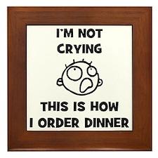 FIN-not-crying-dinner-CROP Framed Tile