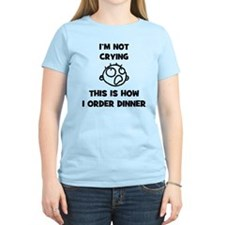 FIN-not-crying-dinner-CROP T-Shirt