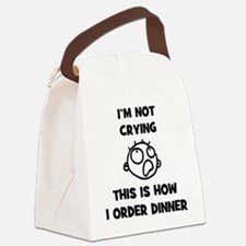 FIN-not-crying-dinner-CROP Canvas Lunch Bag