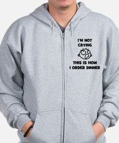 FIN-not-crying-dinner-CROP Zip Hoodie