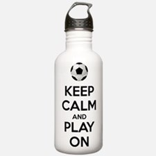 Keep Calm and Play On Botella de agua