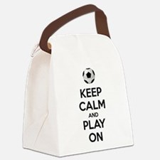 Keep Calm and Play On Canvas Lunch Bag