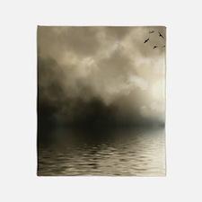 Clouds-Grey-Storm-2 Throw Blanket