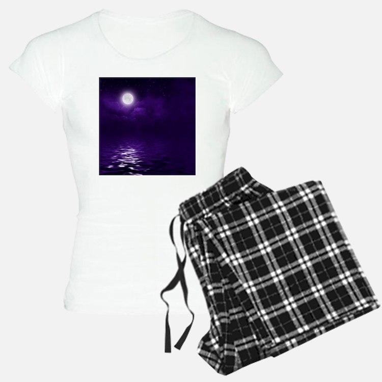 Clouds-Purple-Midnight-Moon Pajamas