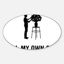 Flower-Arranging-03-A Sticker (Oval)