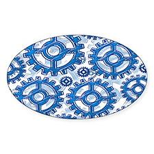 Blue gear wheels Decal