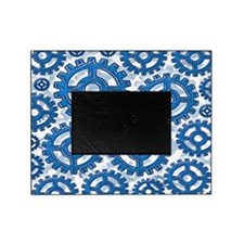 Blue gear wheels Picture Frame