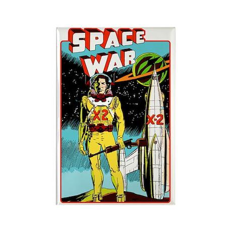 Space War scifi vintage Rectangle Magnet