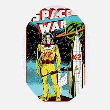 Space War scifi vintage Oval Ornament