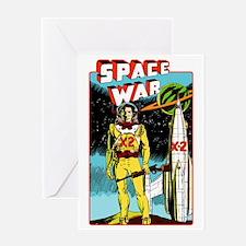 Space War scifi vintage Greeting Card