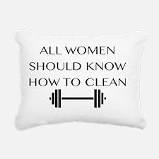 clean Rectangular Canvas Pillow