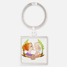 The Village Midwife Logo! Square Keychain