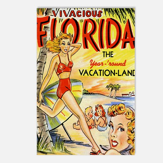 Vintage Florida Vacation  Postcards (Package of 8)