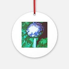 blue mushroom Round Ornament