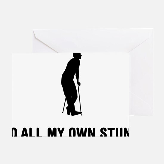 On-Crutches-03-A Greeting Card