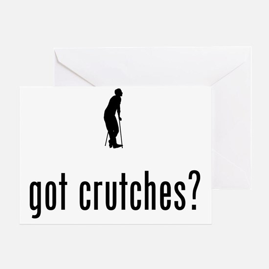 On-Crutches-02-A Greeting Card