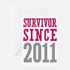 Survivor Since 2011 Greeting Card