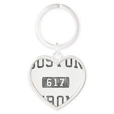 Boston Strong Heart Keychain