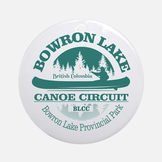 Bowron Lake Canoe Circuit Round Ornament