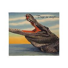 Vintage Alligator Postcard Throw Blanket