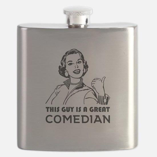 Unique Comedian Flask