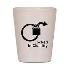 Locked in chastity Shot Glass
