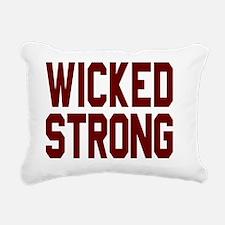 Wicked Strong Boston Rectangular Canvas Pillow