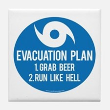 Hurricane Evacuation Plan Tile Coaster