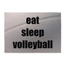 eat, sleep, volleyball 5'x7'Area Rug