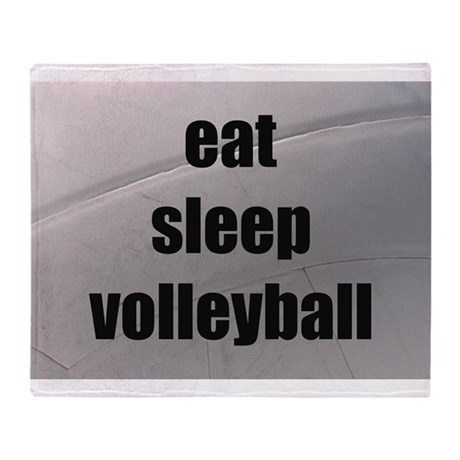 eat, sleep, volleyball Throw Blanket