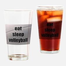 eat, sleep, volleyball Drinking Glass