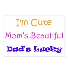I'm Cute, Mom's Beautiful Postcards (Package of 8)