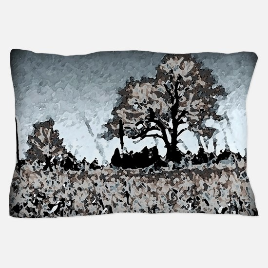 Abstract Tree Artwork Pillow Case