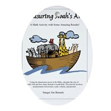 Measuring Noahs Ark Oval Ornament