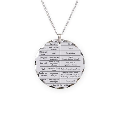 Instruction Manual Necklace Circle Charm