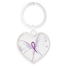 fly away lupus Heart Keychain