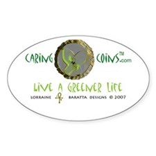 Caring CoinsT Global Warming Oval Decal
