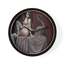 lemur girl 2 Wall Clock