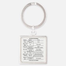 Baby instruction manual Square Keychain