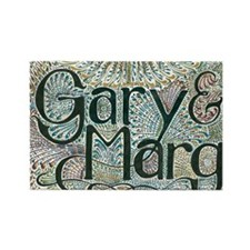 Gary and Marg Rectangle Magnet