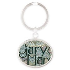 Gary and Marg Oval Keychain