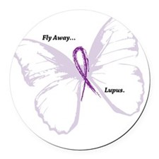 fly away...lupus Round Car Magnet