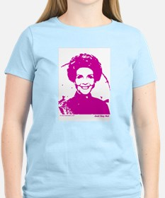 Just Say No - Nancy Reagan Women's Pink T-Shirt