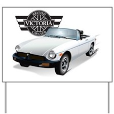 VBCC MGB Newer white C3 color Yard Sign